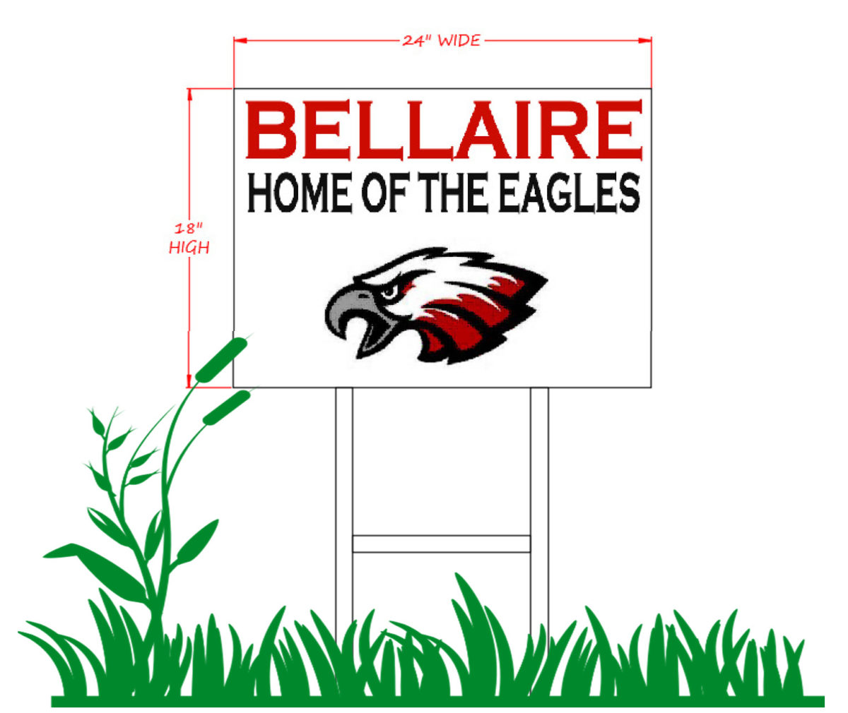 Bellaire Elementary PTO School Spirit Window or Lawn Sign!