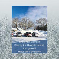 Snow Melt Contest !!!