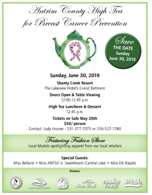 Antrim County High Tea for Breast Cancer Prevention