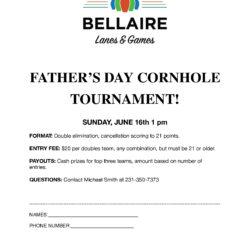 FATHER'S DAY CORNHOLE TOURNAMENT!