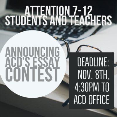 ACD's Essay Contest