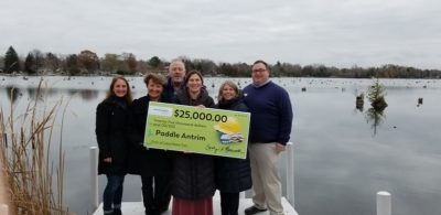 Paddle Antrim Receives $25,000 from Consumers Energy Foundation to Support Chain of Lakes Water Trail