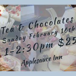 Valentine's Tea and Chocolates @ Applesauce Inn